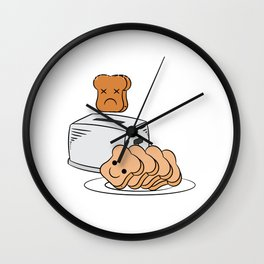 """Cute and adorable loafs that's perfect for gift with text """"Funny bread lover"""" Wall Clock"""