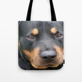 Beautiful Female Rottweiler Portrait Vector Tote Bag