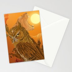 Solar owls -sun  Stationery Cards