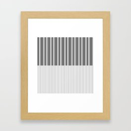 The Piano Black and White Keyboard Stripes with Vertical Stripes Framed Art Print