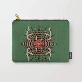 Antlers with Pheasant Feathers Quad Carry-All Pouch