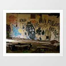 Abandoned Graffiti Art Print