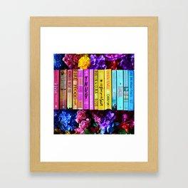 Rainbow Book Spines Framed Art Print