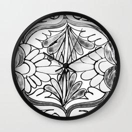Black and White Talavera Eight Wall Clock