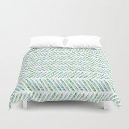 Aquamarine Herringbone Duvet Cover