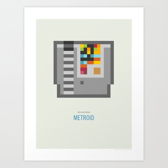 Metroid Cartridge Art Print