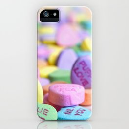 Valentine's Day Candy Hearts iPhone Case