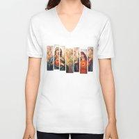 faith V-neck T-shirts featuring Faith by Ibbanez