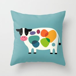 Awesome Cow Throw Pillow