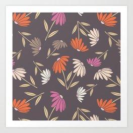 Garden Flowers Style B Art Print