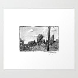 Sellwood Stroll Art Print