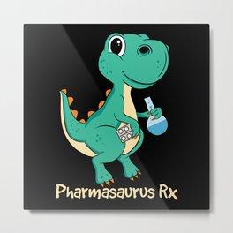 Pharmasaurus Rx - Gift Metal Print