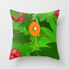 q for quetzal Throw Pillow