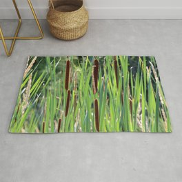 Cattails in the Sun Rug