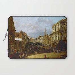 Bernardo Bellotto - Mehlmarkt in Vienna Laptop Sleeve