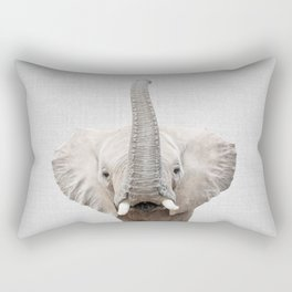 Elephant 2 - Colorful Rectangular Pillow