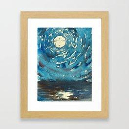 Psychic Moon Framed Art Print