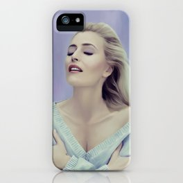 Gillian Anderson painting iPhone Case