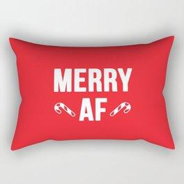 Merry AF Rectangular Pillow