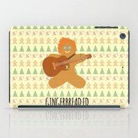 ed sheeran iPad Cases featuring Gingerbread Ed by Laura Maria Designs