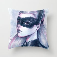 Catwoman Sketch  Throw Pillow