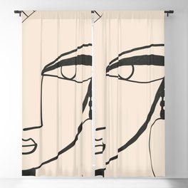 Abstract Face 19 Blackout Curtain
