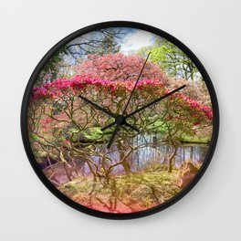 Japanese Garden And Pond Wall Clock