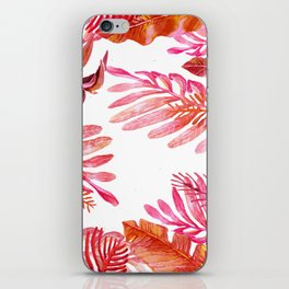 red tropical nature iPhone Skin
