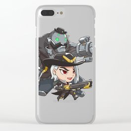 Ashe and bob cute spray Clear iPhone Case