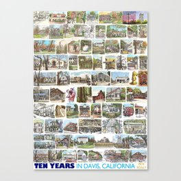 Ten Years in Davis Canvas Print