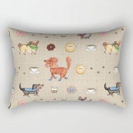 Dogs & Donuts Rectangular Pillow