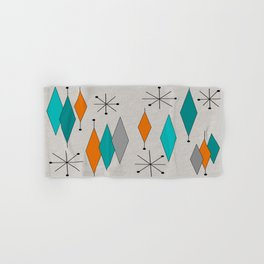 Mid-Century Modern Diamond Pattern Hand & Bath Towel