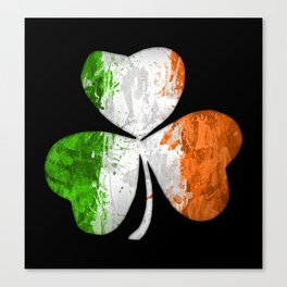 Irish Tricolour Shamrock Canvas Print