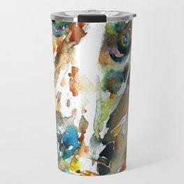 WATERCOLOR BASSET HOUND Travel Mug