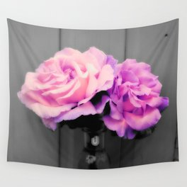 flowERS Pink Purple Pop of Color Wall Tapestry