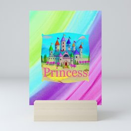Colorful Princess Castle Mini Art Print