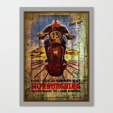 Vintage Racing Poster Canvas Print