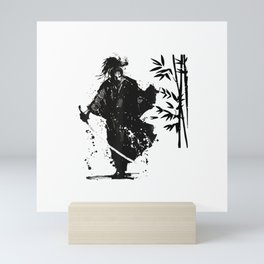 Samurai artwork sword katana Japanese art T-Shirt Mini Art Print