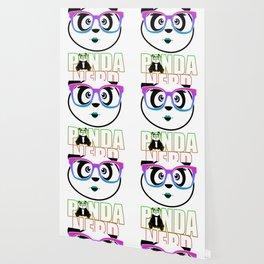 Panda Nerd Girl - Rainbow Wallpaper