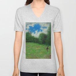 Summer Meadow Swift Unisex V-Neck