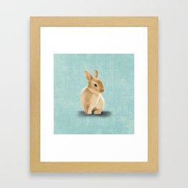 Portrait of a little bunny Framed Art Print