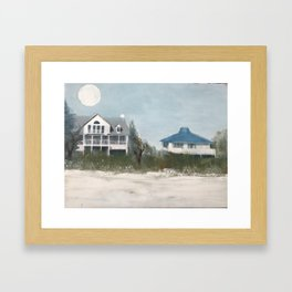 Florida moon Framed Art Print