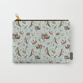 Cute Sea Otters Carry-All Pouch