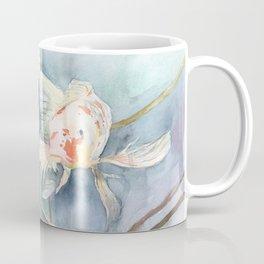 Koi Fish Painting, Underwater Water Lily Coffee Mug