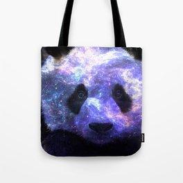 Galaxy Panda Space Colorful Tote Bag