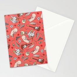 Grunge pattern Stationery Cards