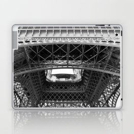 The Eiffeltower iron construction in black and white Laptop & iPad Skin