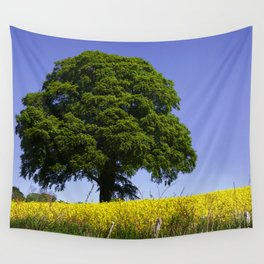 Blue and Yellow Wall Tapestry