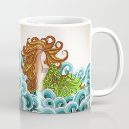 Mermaid Waves Coffee Mug