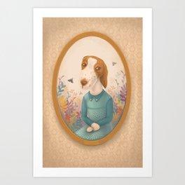 Lady Dog Nina Art Print